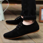 Men Driving British Suede Shoes Dress Formal Oxfords Lace Up Flats LoafersShoes