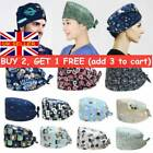 Adjustable+Surgical+Scrub+Cap+Doctor+Nurse+Cotton+Bouffant+Head+Cover+Hats
