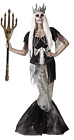Ladies Dark Gothic Dead Zombie Mermaid Halloween Fancy Dress Costume UK 8-18