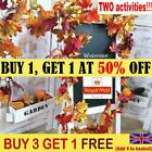 Artificial Autumn Fall Maple Leaves Garland Hanging Plant Home Party Decor Aa Uk