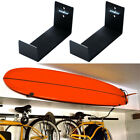 Non Slip Padded Surfboard Longboard Wall Mount Rack Holder Strong Storage Stand