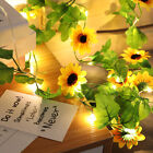 Colorful LED Flower Fairy String Lights Battery Powered Garland Decor Xmas Party