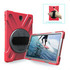 Hybrid Rubber Tablet Case Cover Hand Strap Stand For Samsung Tab S2/ S3 8.0 9.7