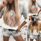 Women Hollow Out V Neck Sweater Tops Ladies Casual Loose Knitted Pullover Jumper