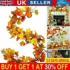 1.8m Artificial Autumn Maple Leaves Garland Hanging Plant Home Halloween Decor A