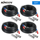 KKMOON 60FT Video Power Cable BNC RCA Extension Cord for CCTV Security Camera