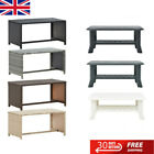 Plastic/Poly Rattan Garden Coffee Table Storage Shelf Outdoor Leisure space