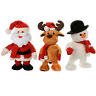 'Walking Dancing Singing Santa / Snowman / Reindeer Christmas Decoration 30 Cm