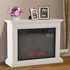 Electric Fireplace LED Wood Fire Flame Stove Heater