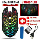 Rainbow Gaming Keyboard And Mouse Combo Multi-Color Changing Backlight Mouse