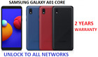 New Samsung Galaxy A01 Core 16gb Dual Sim 2020 4g Lte Smartphone Black Blue Red
