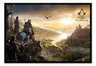 FRAMED Assassins Creed Valhala Vista Poster Official Licensed 26x38"
