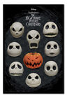 Nightmare Before Christmas Many Faces Of Jack MAGNETIC NOTICE BOARD Inc Magnets