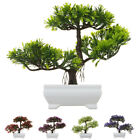 Artificial Bonsai Potted Plant Mini Pine Tree Greeting Home / Office Decor Uk