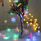 LED Snowflake New Fairy String Window Colour Light Xmas Wedding Party Decor Lamp