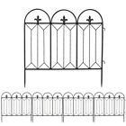 Fence Outdoor Coated Metal Rust Proof Landscape Wrought Iron Wire Border Folding