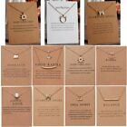 1/2/3pcs Lucky Women Cat Sun Necklace Charms Pendant Clavicle Chain Jewelry Card