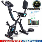 ANCHEER Folding Stationary Upright Magnetic Exercise Bike 3-in-1 Bluetooth APP