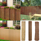 Multi-Sizes Natural Reed/Willow/Brushwood Garden Fence Roll Screen Slat Panel