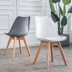 2/4/6 Kitchen Dining Chairs PU Seat Solid Wood Legs Home Lounge Restaurant