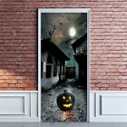 Halloween Pumpkin Stickers Door Wall Decal Sticker Horror Home Party Decoration
