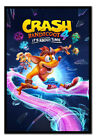 Crash Bandicoot 4 It's About Time FRAMED CORK PIN BOARD With Pins | UK Seller
