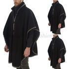 Men Hippie Shawl Poncho Cape Cloak Batwing Jacket Coats Sweater Pullover Outwear