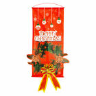Merry Christmas Porch Banner Hanging Sign Home Xmas Party Decor Ornaments