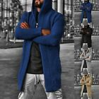Mens Knitted Long Sleeve Cardigan Sweater Jacket Casual Winter Warm Coat Outwear