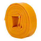 10m-50m Long Layflat Hose Discharge Pump PVC Lay Flat Water Delivery Pipe Yellow