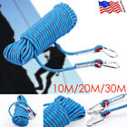 Outdoor Exercise Gym Climbing Rope Static Rappelling Rope Carabiner 10/20/30M