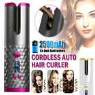 Cordless Automatic Rotating Hair Curler Hair Waver Curling Iron Wireless LCD US