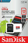 New Sandisk Ultra 128 Gb & 256 Gb Micro Sd  Uhs-i Card  100mb/s A 1 128gb 256gb