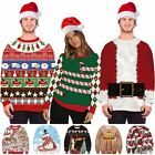 Ugly Couples Mens Christmas Sweater Sweatshirt Xmas 3D Print Funny Hooded Jumper