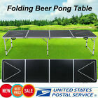 8FT Beer Pong Table LED Lights Outdoor Picnic Beer Table w/Optional Cup