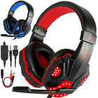 LED Gaming Headset Surround Stereo Headphone with Microphone for PS4/Xbox one/PC