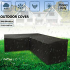 L Shape Waterproof Outdoor Furniture Cover Garden Patio Rain Uv Sofa Protector