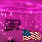 3.5m Butterfly LED STRING Strip Festival Holiday Icicle Curtain LIGHTS CHRISTMAS
