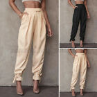 Womens Casual Loose Tapered Harem Pants High Waist OL Office Formal Long Pants