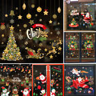 Christmas Removable Window Stickers Festival Xmas Decals Wall Home Shop Decor Au