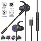 Wired Gaming Headset Earphone In-Ear Stereo RGB Headphone w/Mic For PS4 Xbox One