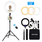 """18"""" VEVICE LED Dimmable Ring Light Tripod Stand Phone Holder Youtube Live Lamp <br/> 🚚 2Days Delivery✅1.9M Tripod✅4 Phone Holders✅10-18inch"""