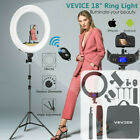 "18"" VEVICE LED Dimmable Ring Light Tripod Stand Phone Holder Youtube Live Lamp"