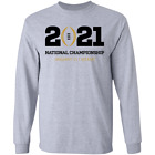 Men's 2021 College Football Playoff National Championship Logo Long Sleeve S-5XL For Sale