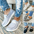 Womens+Pumps+Slip+On+Flat+Loafers+Outdoor+Summer+Casual+Boat+Shoes+Size+UK+5-7.5