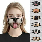 Men's Women's Reusable Washable Funny Cartoon Animal Dog Face Mask Covering