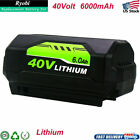 For Ryobi 40V 6.0Ah Lithium Battery High Capacity OP4015 OP4026 or Charger OP401