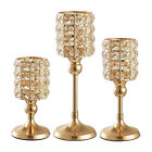 Crystal Gold Candle Holder Dinner Home Decorative Candlestick Candle Stand