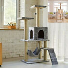 Cat Tree Tower Post Toy Condo Scratching Post Pet House Activity Centre 140cm