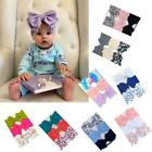 3 Pcs Baby Large Bow Wide Headband Girls Hair Bands Children Kids Head Wraps